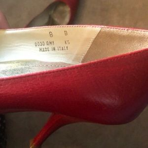 Coach Shoes - Coach Pointed Ruby Red Heel Pumps Stilettos 👠
